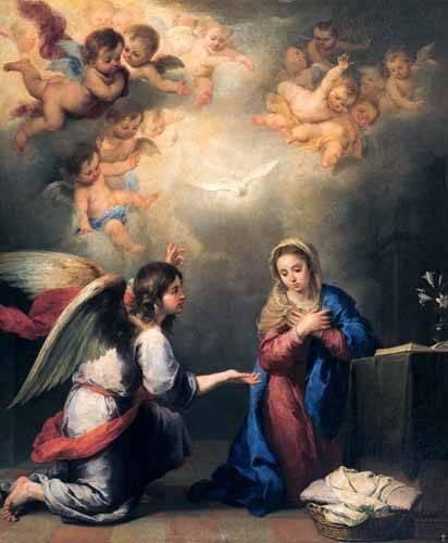 religioese-gemaelde - Annonciation - Murillo, Bartolome Esteban