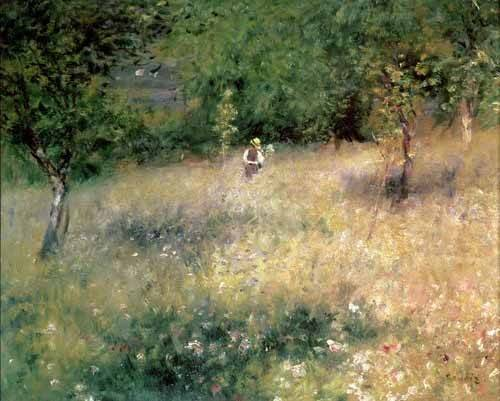 landschaften-gemaelde - Printemps à Chatou - Renoir, Pierre Auguste