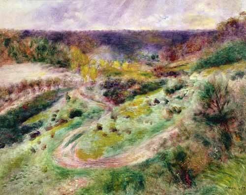 landschaften-gemaelde - Paysage à Wargemont - Renoir, Pierre Auguste