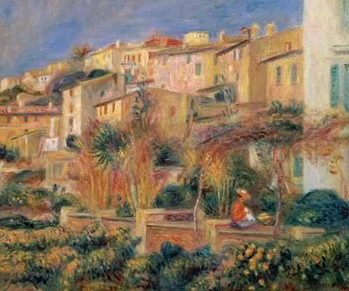 landschaften-gemaelde - Terrasse à Cagnes - Renoir, Pierre Auguste