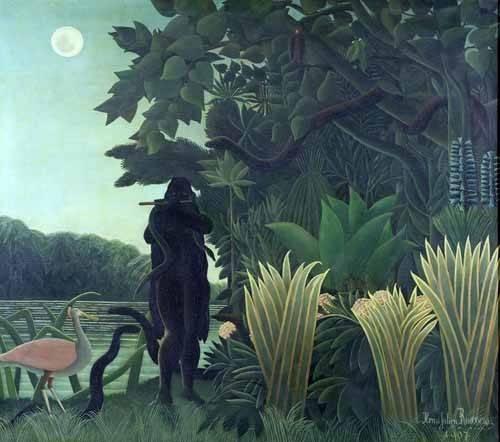 landschaften-gemaelde - La encantadora de serpientes - Rousseau, Henri