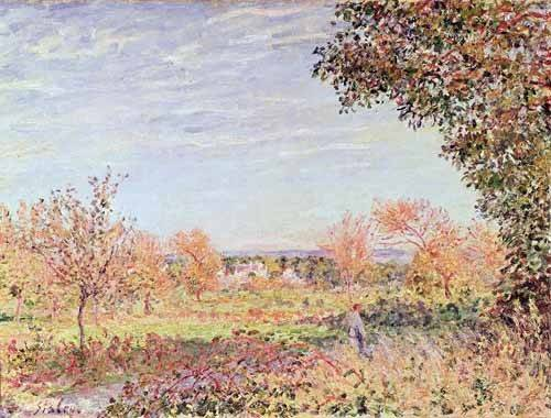 landschaften-gemaelde - Mañana de Septiembre - Sisley, Alfred