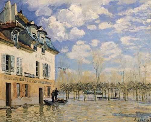 landschaften-gemaelde - Inundación en Port-Marly - Sisley, Alfred