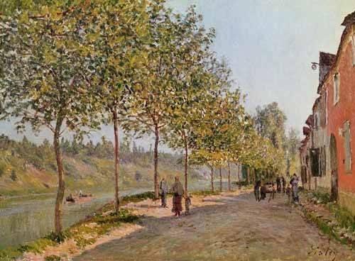 landschaften-gemaelde - Mañana de Junio en Saint-Mammes - Sisley, Alfred