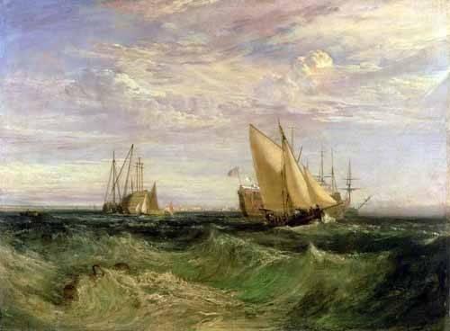 seelandschaft - La confluencia entre el Tamesis y el Medway - Turner, Joseph M. William