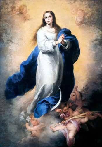 religioese-gemaelde - Inmaculada Concepción del Escorial - Murillo, Bartolome Esteban