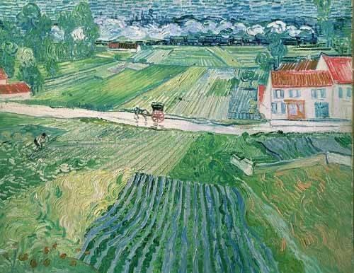 landschaften-gemaelde - Paysage d'Auvers après la pluie - Van Gogh, Vincent