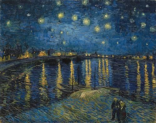 landschaften-gemaelde - Sternennacht über der Rhone - Van Gogh, Vincent
